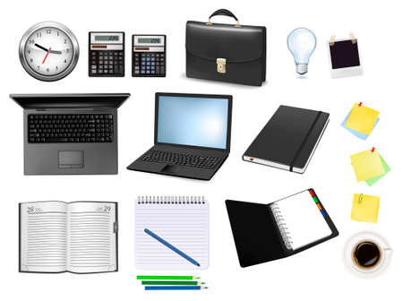 Business and office supplies. illustration. Stock Vector - 8792325