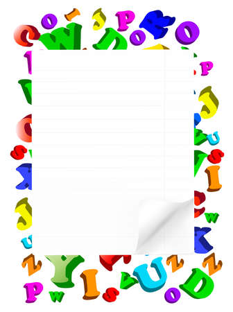 education background: Background with color alphabet.  Illustration