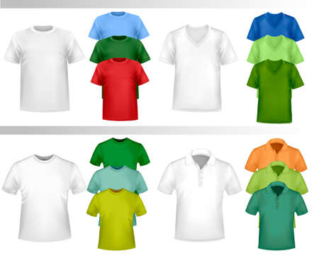Color t-shirt design template. Vector  Stock Vector - 8897546