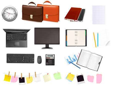 Business and office supplies. Vector illustration. Stock Vector - 8927893