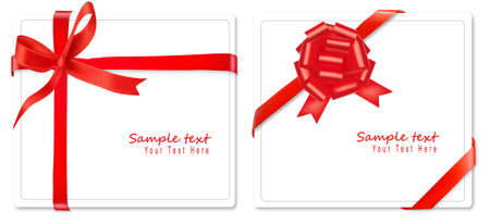 Collection of red bows with ribbons. Vector. Stock Vector - 8898366