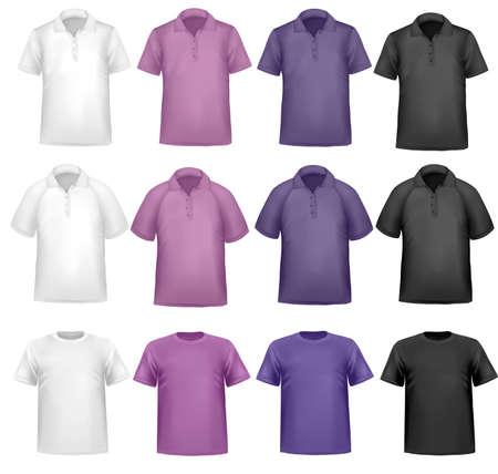 Color t-shirt design template.