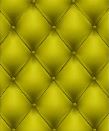sofa viejo: Fondo de cuero verde de bot�n de monos. Ilustraci�n vectorial.