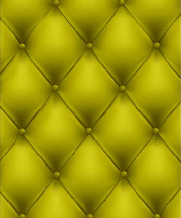 chester: Green button-tufted leather background. Vector illustration.