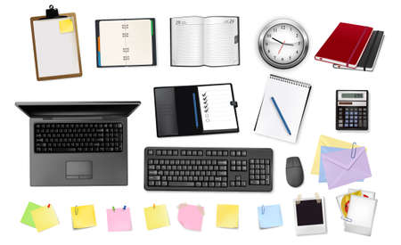 key pad: Business and office supplies. Vector illustration
