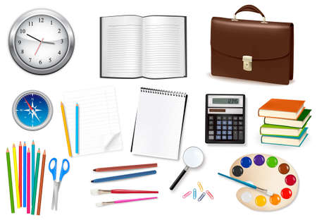Business and office supplies. Vector illustration.  Stock Vector - 8898404