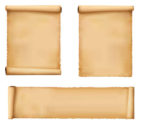 Conjunto de hojas de papel. Vector. Ilustración de vector