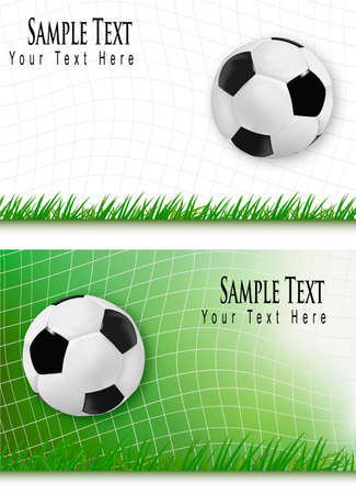 fun grass: Two football backgrounds. Vector.