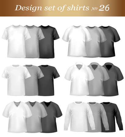 �rmel: Color T-shirt Design Vorlage. Vektor-Illustration.  Illustration