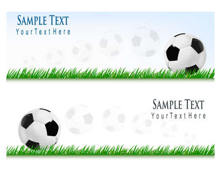 voetbal banner: Two football backgrounds. Vector