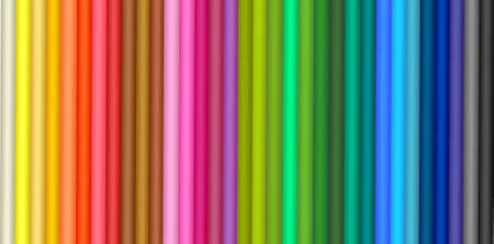 Background with color pencils.  Vector