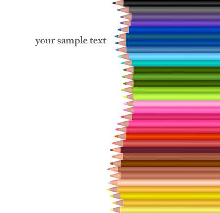 knutsel spullen: Achtergrond met kleur potloden.