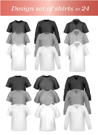 T-shirt design template. Photo-realistic vector illustration Stock Vector - 8898461