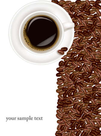 coffee crop: Design coffee background.