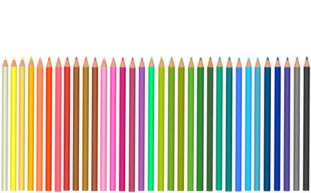 Background with color pencils. Vector  Vector