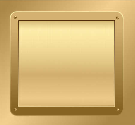 Gold plaque on a textured background. Vector illustration Vector