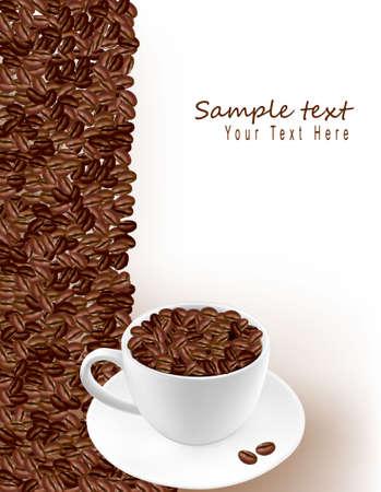 chicchi caff� su sfondo bianco: Progettazione sfondo di caff�.
