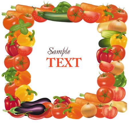 paprika: Frame made from vegetables.