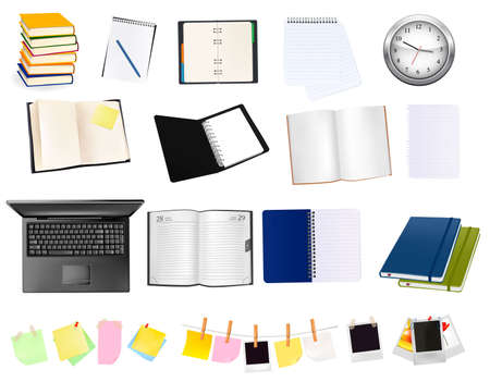 Business and office supplies. illustration.  Stock Vector - 9053486