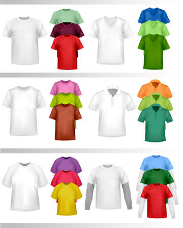 tshirt: Color t-shirt design template. illustration.