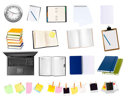 Business and office supplies. Vector illustration. Stock Vector - 9108892