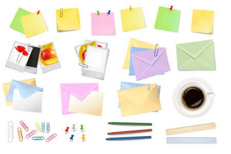 Office supplies. Vector. Stock Vector - 9108910