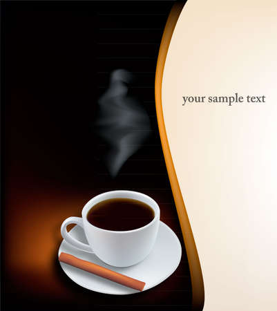 Cup of coffee. Photo-realistic vector.  Vector