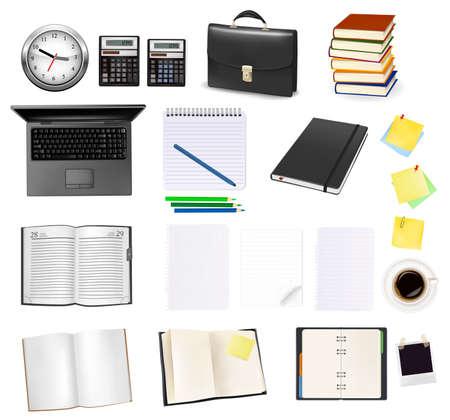 raton: Suministros de oficina y negocios. Ilustraci�n vectorial.