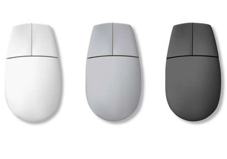 white pointer: Computer mouse. Vector  Illustration