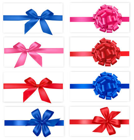 Big set of gift bows with ribbons. Vector. Stock Vector - 9252101
