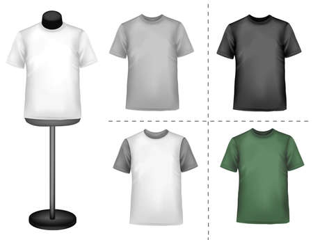 Polo shirts with mannequins. Vector.  Vector