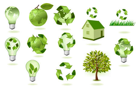 Big set of ecology icons.  Stock Vector - 9304525