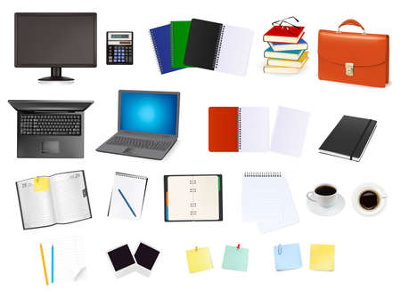Business and office supplies. Stock Vector - 9304521