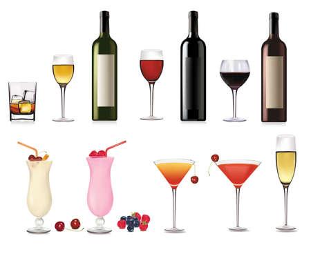 Set of cocktail. Vector illustration.  Vector