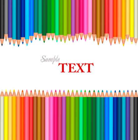 niños con lÁpices: Fondo con lápices de colores.