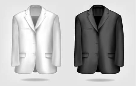 Black and white suits. Vector