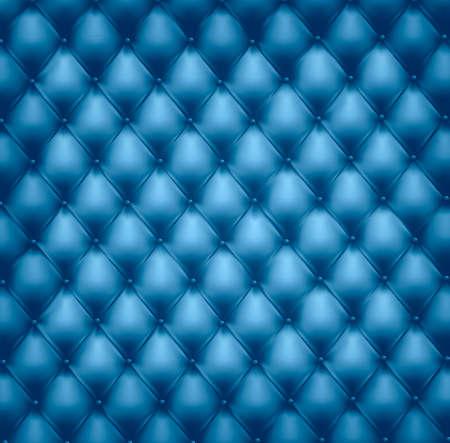 brown leather sofa: Sfondo blu in pelle trapuntati a pulsante.