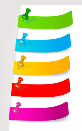 tabs: Set with colored stickers. Illustration