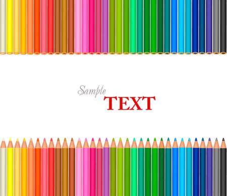 Arrière-plan avec des crayons de couleur. Vecteur  Banque d'images - 9459862