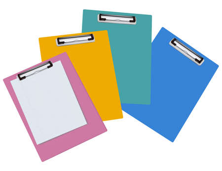Blank clipboards isolated on white background. Photo-realistic vector illustration.  Stock Vector - 9459877