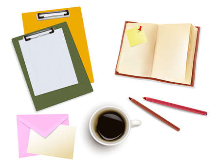 Office supplies. Photo-realistic vector.  Stock Vector - 9459874
