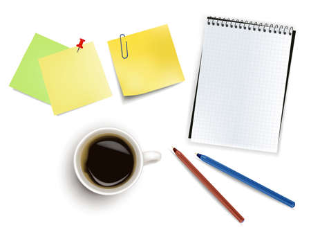 Office supplies. Photo-realistic vector.  Vector