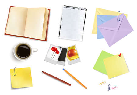 Office supplies. Vector.  Stock Vector - 9459885