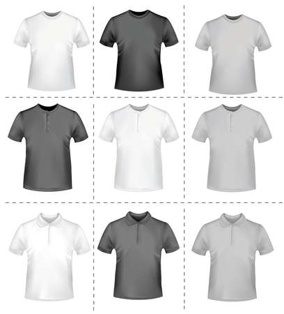 photorealistic: Shirts. Photo-realistic vector
