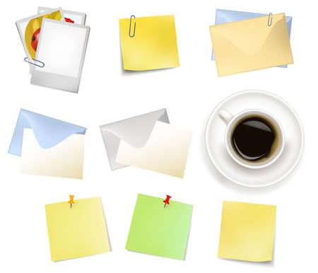 bureaucratic: Office supplies. Vector.  Illustration