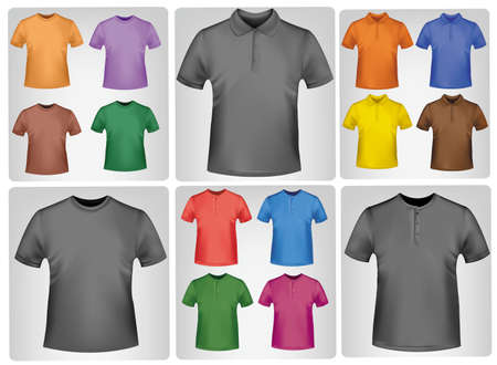 polo t shirt: Shirts. Photo-realistic vector
