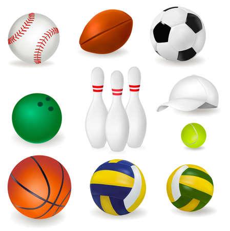 hardball: vector illustration of sport balls  Illustration