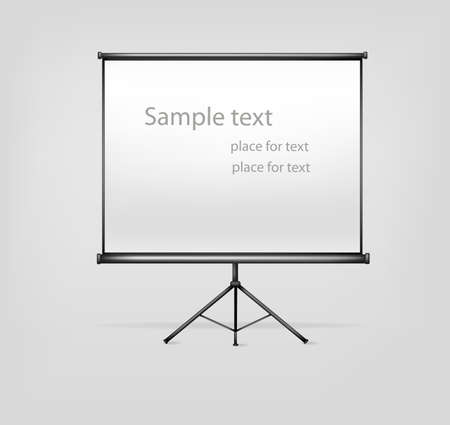 whiteboard: White billboard with empty space. Vector illustration.