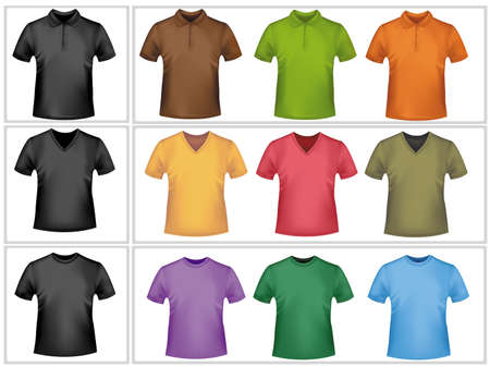Colored polo shirts. Photo-realistic vector illustration. Stock Vector - 9635388