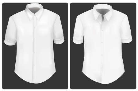 Photo-realistic vector illustration. White t-shirts. 矢量图片